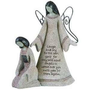 Watchful Angels Art Stone Figurine: Home & Kitchen