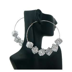 Out Cubes Basketball Wives Poparazzi Hoop Earrings Lady Gaga Paparazzi