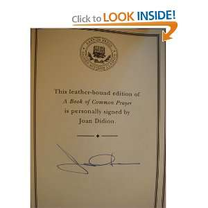 A Book of Common Prayer. Joan. Didion Books