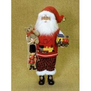 Karen Didion Originals Santa Claus with train , bear, and