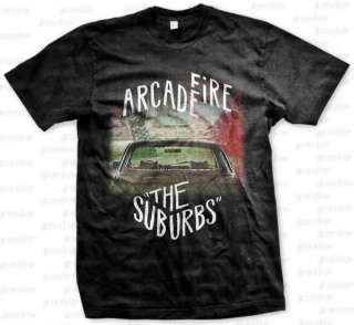 Arcade Fire Suburbs Indie baroque pop art rock Black T Shirt S M L XL