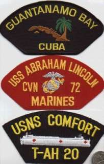 HAT PATCH USS ABE LINCOLN CVN 72 MARINE DETACHMENT US NAVY USN