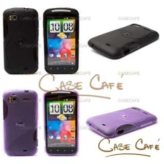 LOT OF 5 x NEW S LINE TPU GEL CASE COVER SKIN BUNDLE KIT FOR HTC