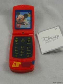 Mickey Mouse Toy Flip Camera Cell Phone New