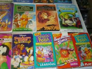 Lot Of 35 Vintage VHS Disney Kid Movies WholeSale