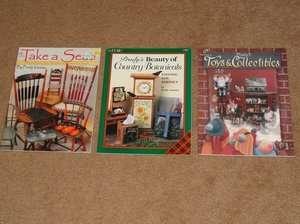 LOT OF 3 ACRYLIC PAINTING BOOKS FOLK ART, TOLE, FURNITURE, TOYS