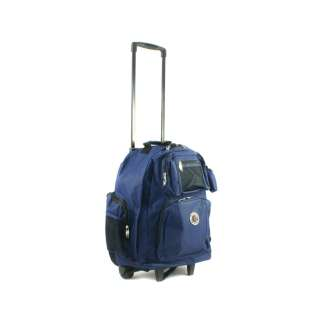 TRANSWORLD ROLL AWAY DELUXE ROLLING BACKPACK NAVY $60