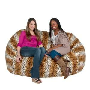 Chair Huge Love Seat Micro Suede 6 Leopard Animal Print By Cozy Sac