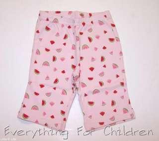 Girls GYMBOREE Summer Picnic pants NWT watermelon pink