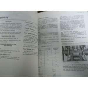 com John Deere 100 Integral Disk OMA38077 OEM OEM Owners Manual John