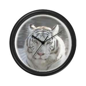 Royal White Tiger Animals Wall Clock by CafePress Home