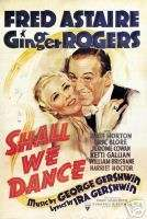 SHALL WE DANCE MOVIE POSTER Fred Astaire Ginger Rogers1