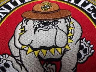 MARINE CORPS USMC PATCH LARGE LOGO BULL DOG XLG NEW