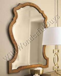 HORCHOW Kaydence Arched Wood WALL MIRROR Beveled NEW