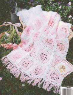 Blocks Flower Baby Afghans Crochet Patterns Blanket NEW