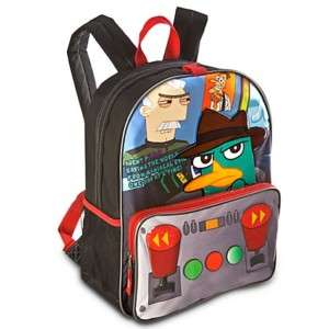 DISNEY PHINEAS & FERB AGENT P BACKPACK BOOK BAG ~ NWT