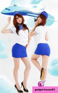 Stewardess cosplay Halloween Costume Air Hostess Uniforms A121