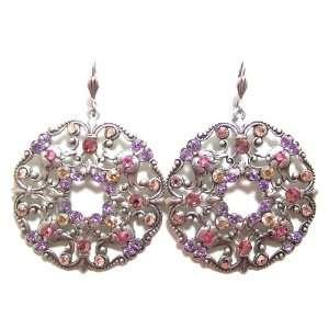 Anne Koplik Designs Sterling Silver Plated Large Filigree Earrings