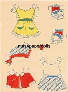 VINTAGE CLOTHES LADY PAPER DOLLS LAZER REPRO ORG SZE