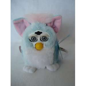 Electronic Hasbro Furby Babies Blue and White with Pink