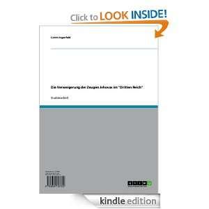 Die Verweigerung der Zeugen Jehovas im Dritten Reich (German Edition