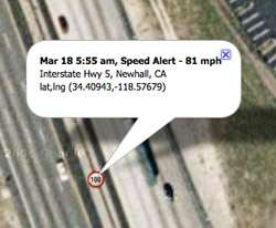 Speed Alerts / Geofence Alerts Hardwired   OBDII interface included