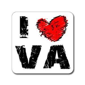 I Love Heart VA   VIRGINIA   Window Bumper Laptop Sticker