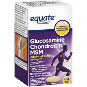 Glucosamine Chondroitin MSM, Triple Strength, 80 Equate
