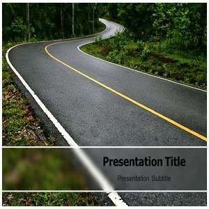 PowerPoint Templates   Background On Roadwinding Templates Software
