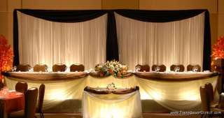 Wedding Backdrop Kit w/Pipe, Drape, Valence: 2 PANEL 6 10ft TALL