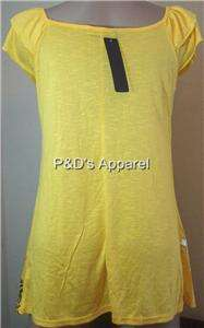Womens Annabelle Maternity Yellow Shirt Top S M L XL