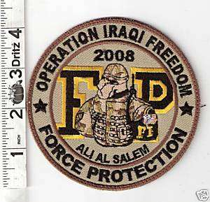 2008 ALI AL SALEM AIR BASE FORCE PROTECTION PATCH V27