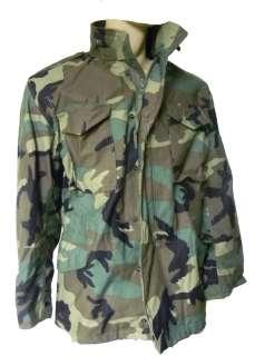 US Army Military M65 M 65 Field Jacket Woodland Camo G.I. Golden Mfg