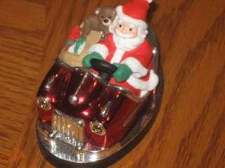Here Comes Santa Claus Bumper Car Hallmark Christmas Ornament No box
