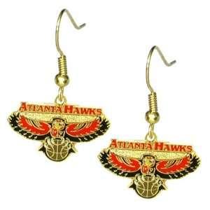 Atlanta Hawks   NBA Team Logo Dangler Earrings Sports