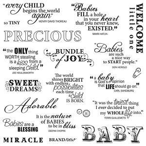 Fiskars Clear Stamps Sayings Precious Baby Quotes