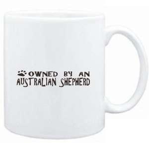 : Mug White  OWNED BY Australian Shepherd  Dogs: Sports & Outdoors