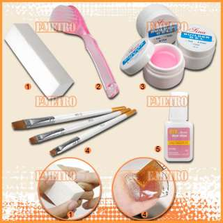 Pro Kit de Gel UV + Lampara para crear uñas gel arte 3D
