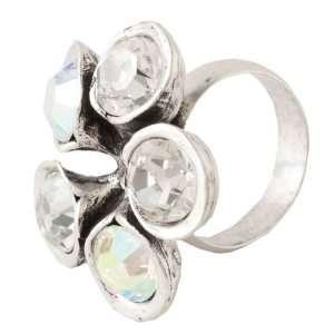 Avant Garde Swarovski Crystal Flower Ring Jewelry