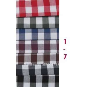high quality yarn dyed 100 cotton checked shirting fabric