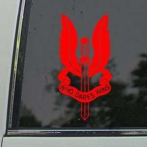SAS Special Air Service SASR NZ UK Red Decal Car Red