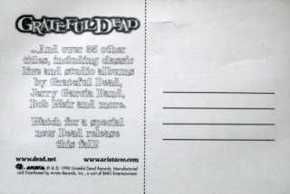 Grateful Dead   Take it Furthur sticker postcard 1998