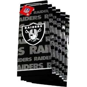 Pro Specialties Oakland Raiders Team Logo Slim Size Gift Bag (6 Pack)