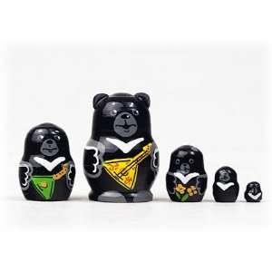 Mini Black Bear w/ Balalaika 5pc./1
