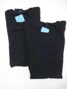 NWT LOT 2 TSQUARED Black Short Sleeve Shirt Top Sz S/M