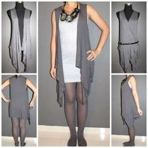 Garcons comme le fashion Asymmetrical Hem Long des vest