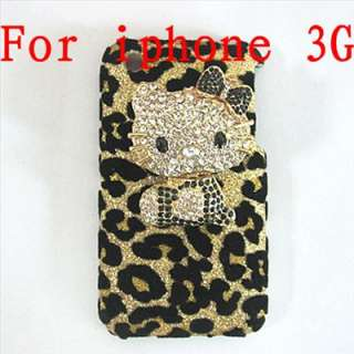 Bling hello kitty hard Case Cover for iPhone 3G 3GS T8