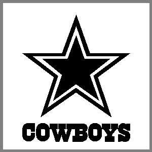 Dallas Cowboys Star w Text 12 inch Window Sticker Decal