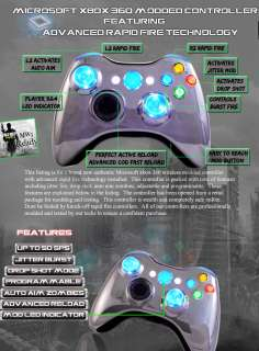 360 RAPID FIRE MODDED CONTROLLER   10 MODES CHROME BLUE   AUTO AIM COD