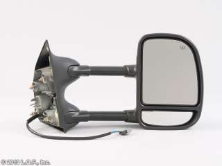 RH PS Black Power Telescoping Tow Towing Trailer Side Mirror